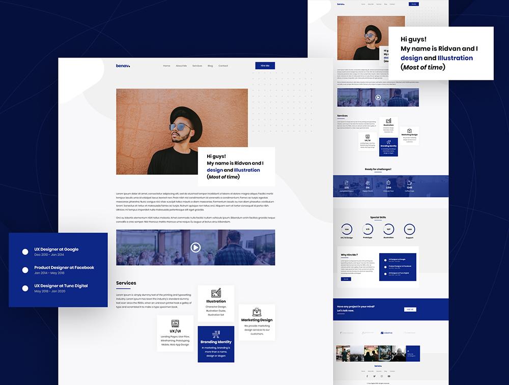 个人投资组合模板-Benav – Personal Portfolio Template