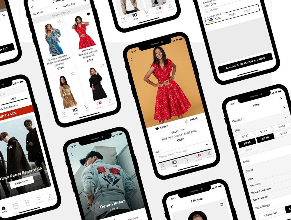 双电子商务iOS UI工具包-DUAL — e-commerce iOS UI Kit