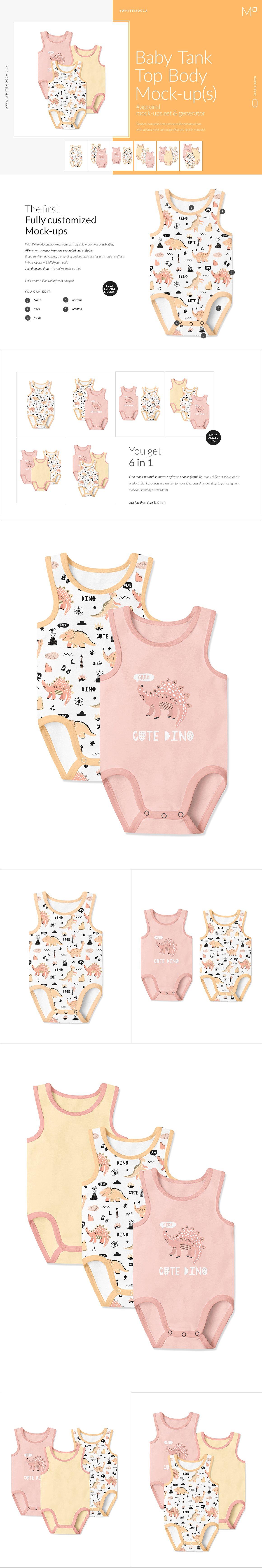 婴儿背心式人体模型套装-Baby_Tank_Top_Mock-ups_Set