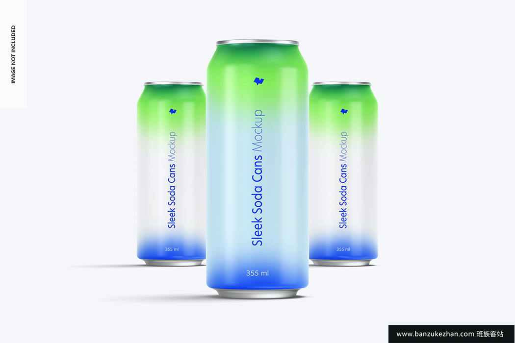 355 ml光滑汽水罐样机-355 ml soda cans mockup