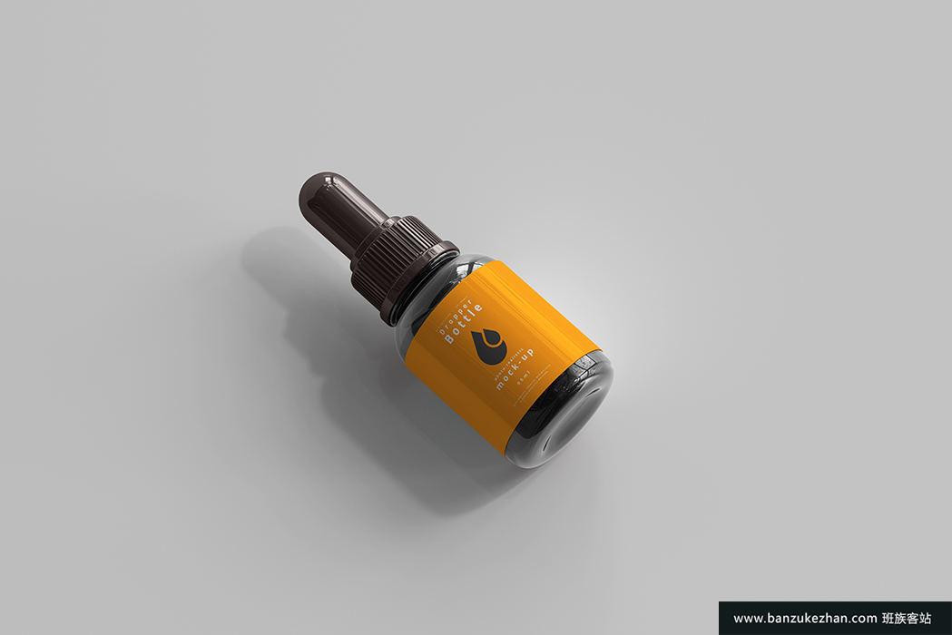 带包装盒的滴管瓶样机-Dropper_bottle_mockup