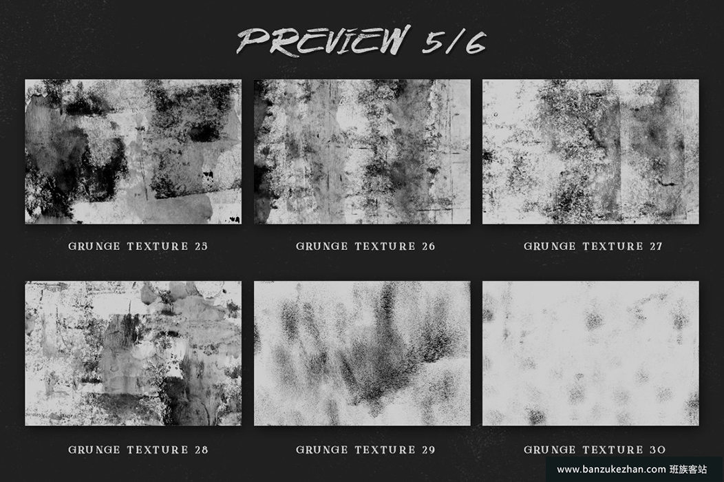 35种墨水油漆纹理笔刷_Grunge_texture_kit