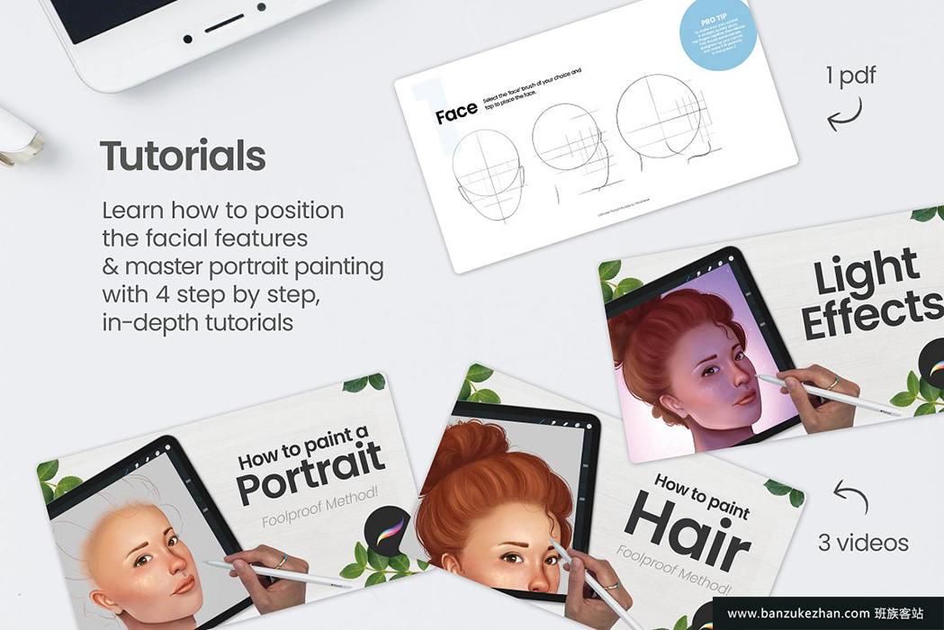 终极Procreate人像组合笔刷-Ultimate_Procreate_Portrait_Bundle
