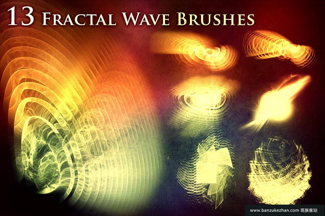 13个分形波浪笔刷_Fractal_Wave_Brushes