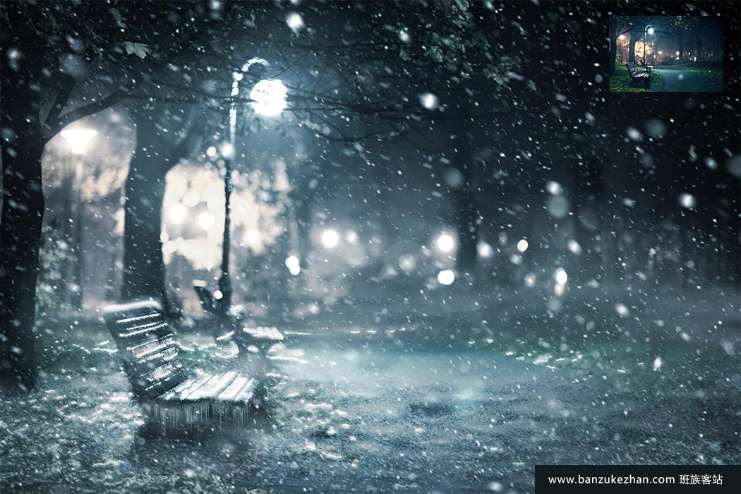 PS动作-逼真寒冬冰天雪地效果_winter_photoshop_action+使用教程