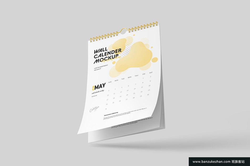 挂历样机-Wall_Calendar_Mockup