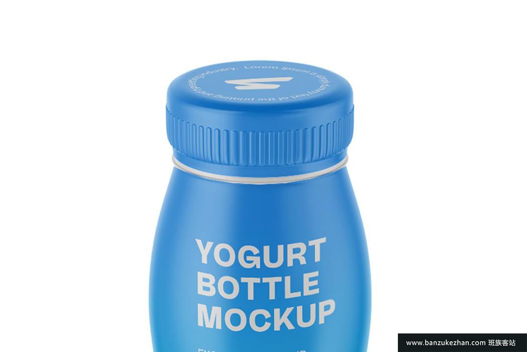 酸奶瓶子模型-Yogurt_Bottle_Mockup