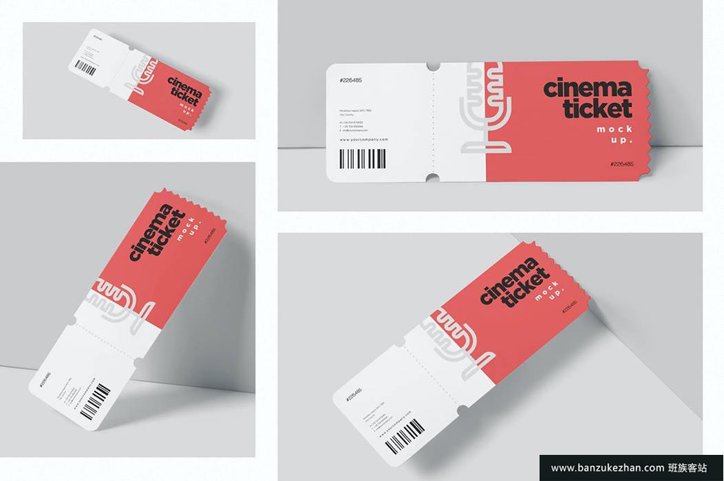 电影票样机-cinema-ticket-mockups