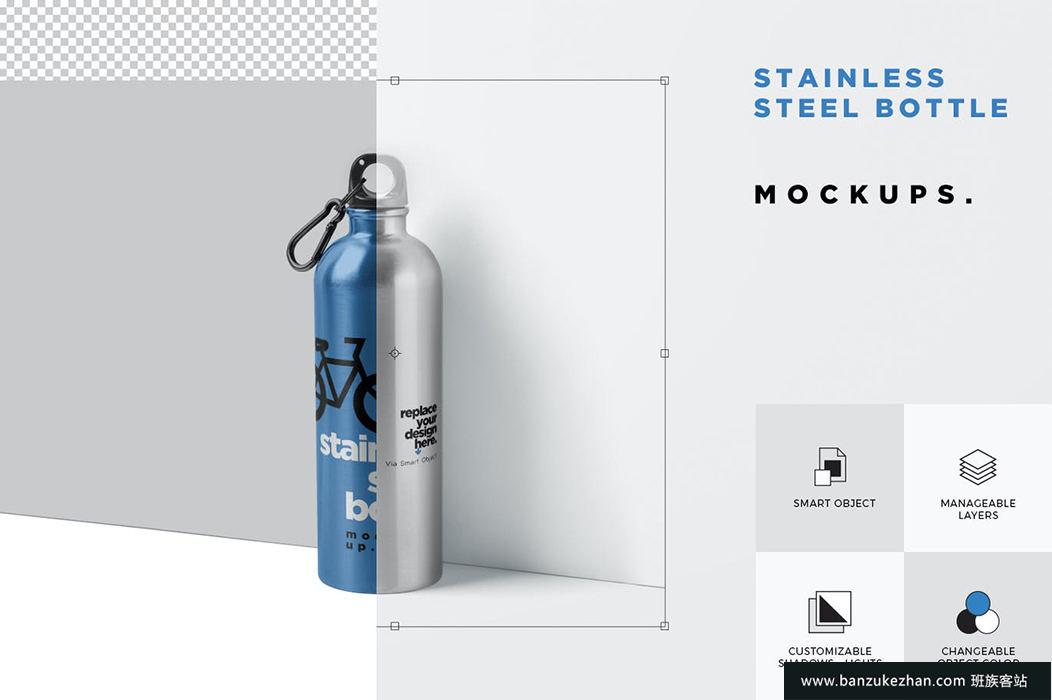 热水瓶瓶样机-thermos-flask-bottle-mockups