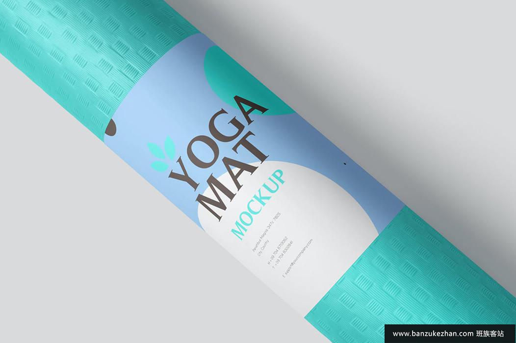 瑜伽垫样机-yoga-mat-mockups