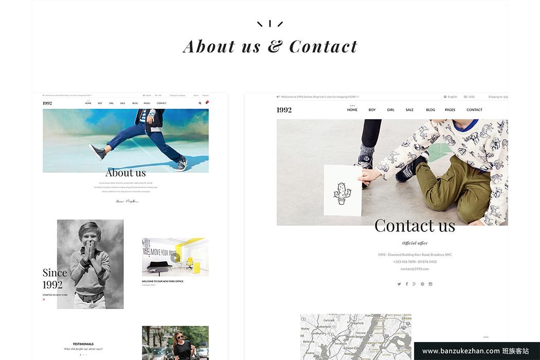 创意电商购物模板PSD主题-1992 creative ecommerce psd theme