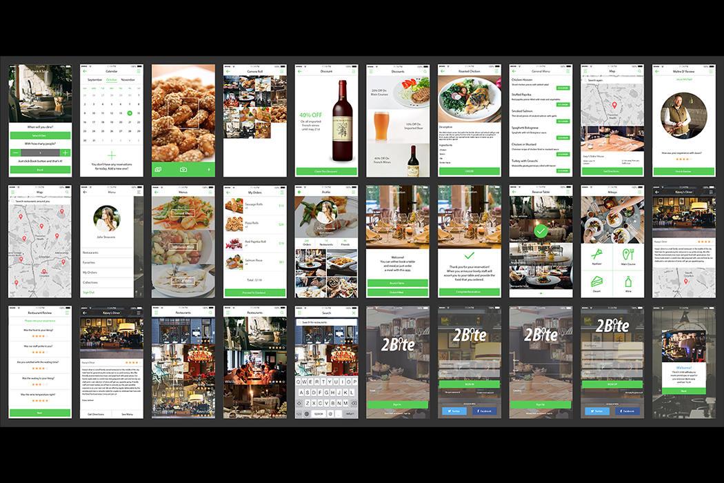 餐厅咖啡厅面包店快餐应用程序-2.Bite.UI.Kit