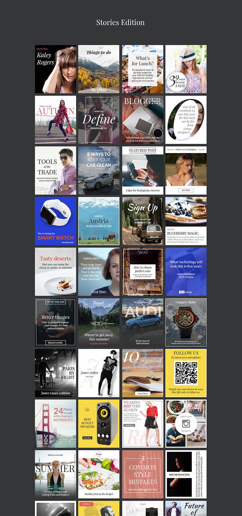 240时尚的横幅网站博客应用程序和社交媒体-240.Banners.Pack-班族客站