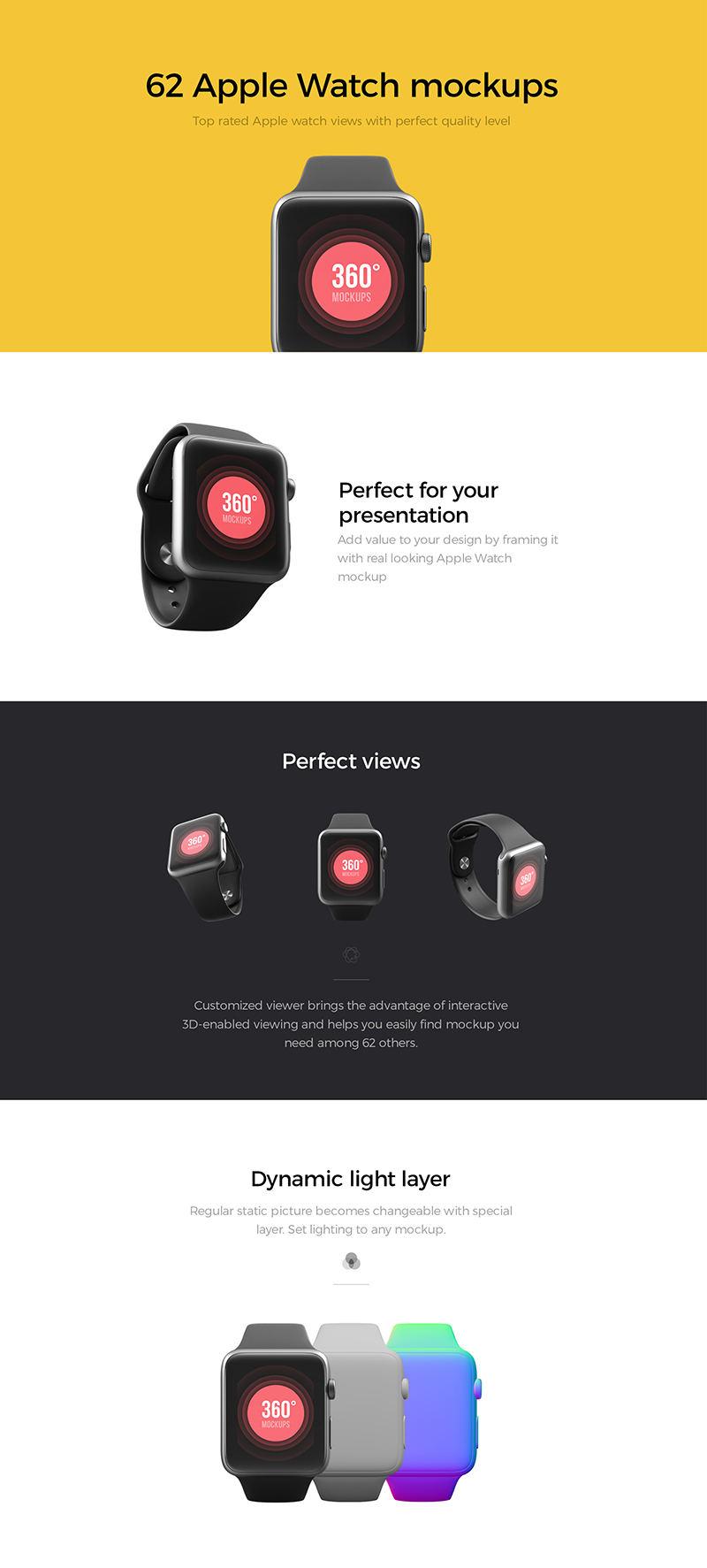62款高质量苹果手表样机-62 Apple Watch Mockups