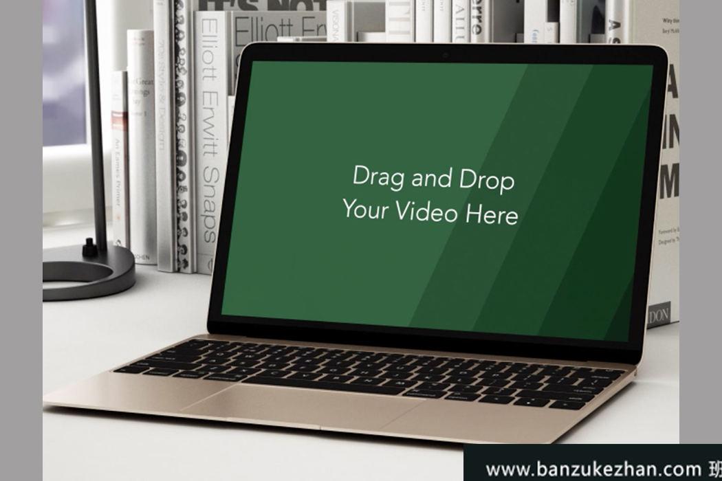 笔记本电脑视频桌面场景-Apple Macbook Video Mockup