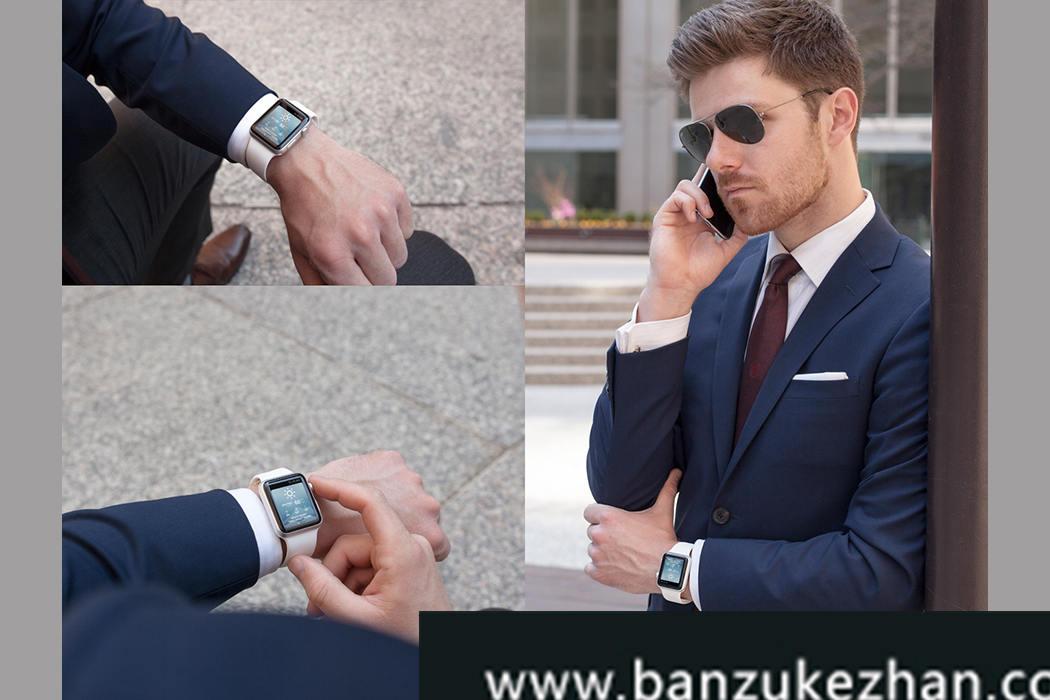 12张超级干净清晰的苹果手表图像Apple Watch Mockups