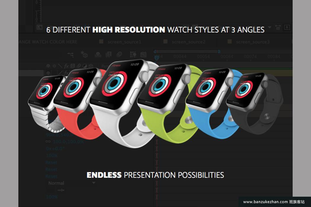 6种不同手表风格视频展示-Apple Watch Presentation