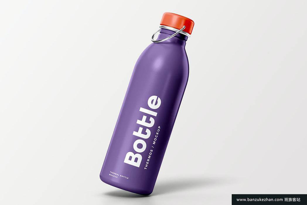 运动保温热水瓶模型-thermal-bottle-mock-up
