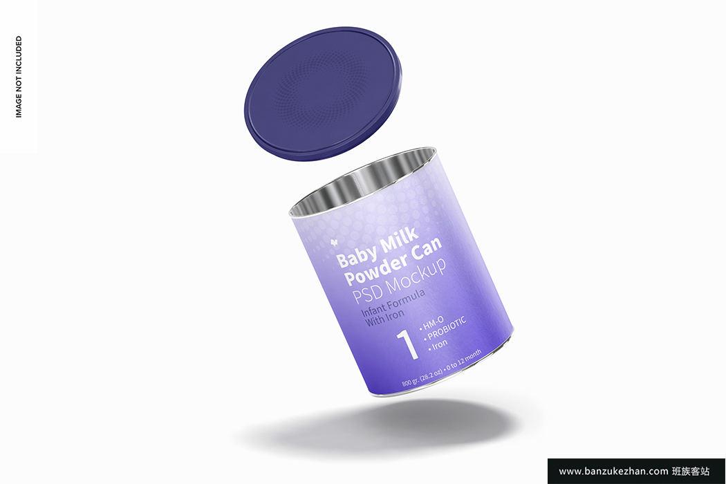 婴儿奶粉罐模型样机-Baby_milk_powder_can_mockup