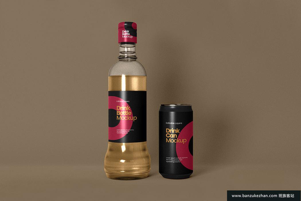 单个酒瓶模型-Single_wine_bottle_mockup
