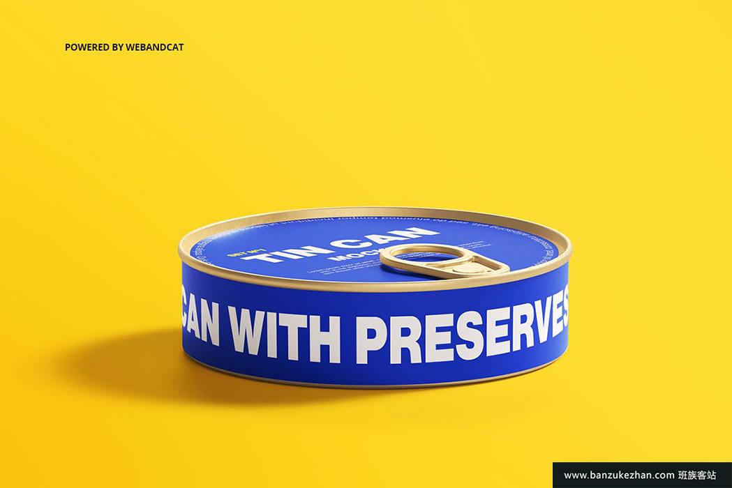 高质量锡罐样机模型-tin-can-mockup