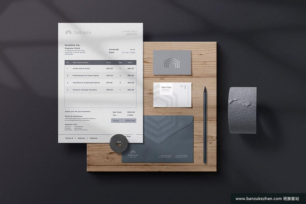 PS物品图案金箔纸阴影覆盖等样机生成插件神器-Paper Panel-班族客站