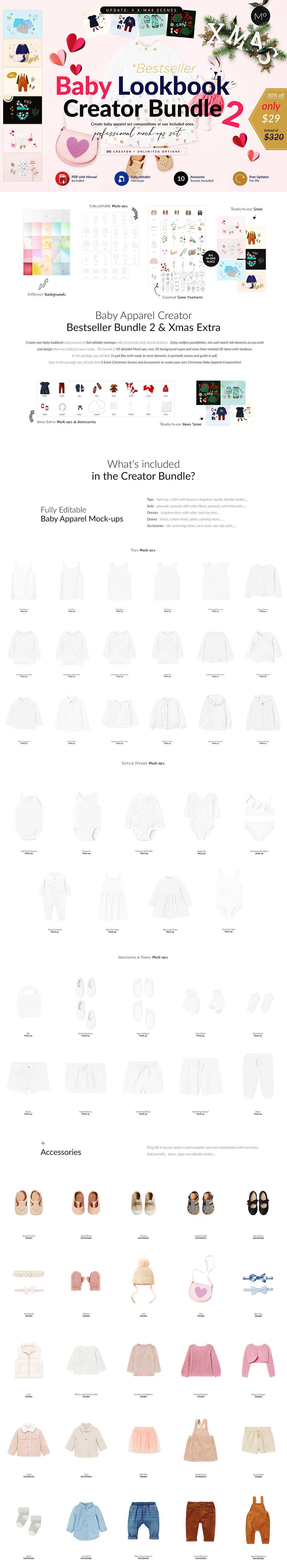 婴儿服装创造者婴儿服饰合集-Baby Lookbook Creator Bundle 2