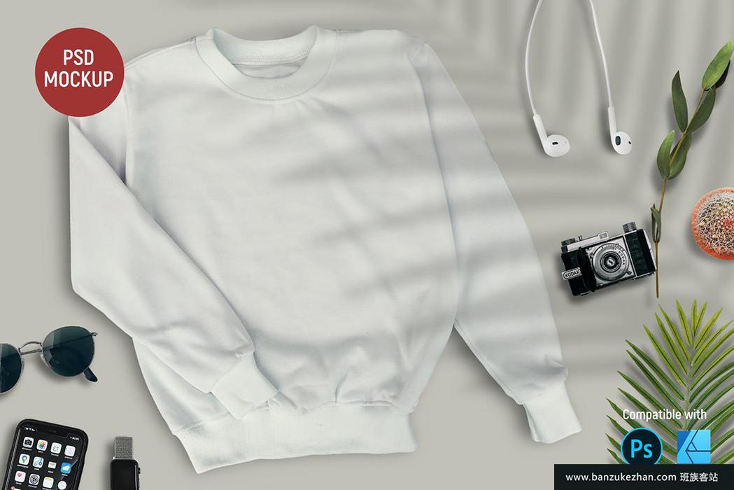 运动衫模型-sweatshirt-mockup
