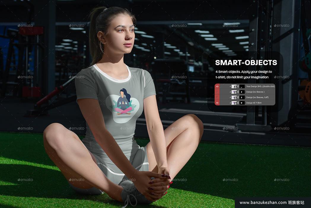 5款运动t恤和短裤模型_Sports_T-Shirts_and_Shorts_Mockups