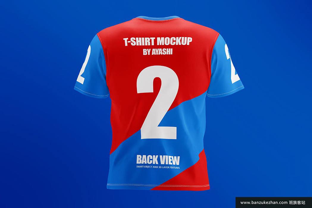 t恤模型-背面视图-t-shirt-mockup-back-view
